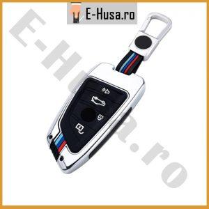 Husa Cheie Auto BMW Silver 4 butoane jpeg 1